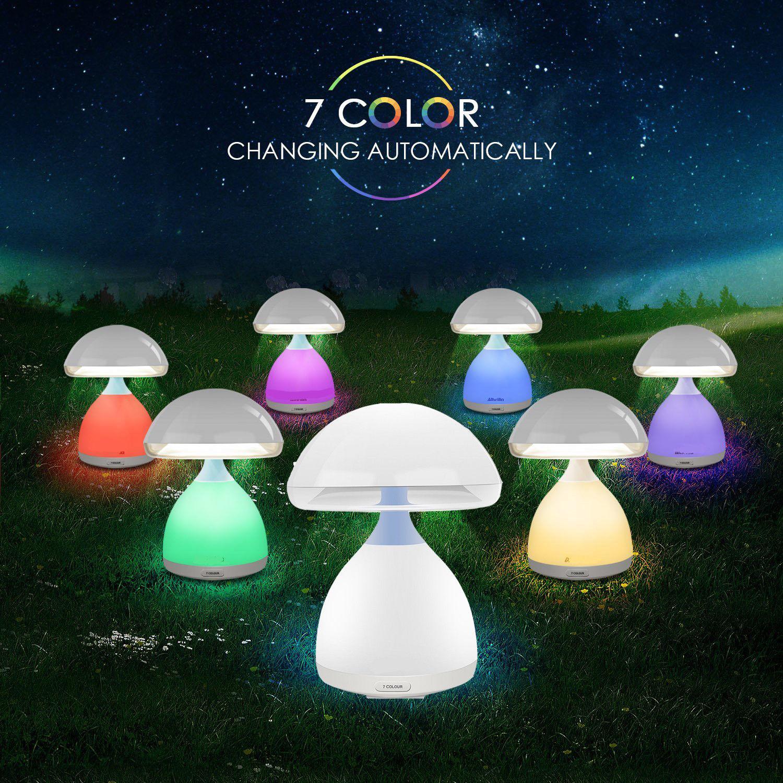 Luci Led Per Cromoterapia fungo lamp, lampada per cromoterapia bambini. lampada da notte e design