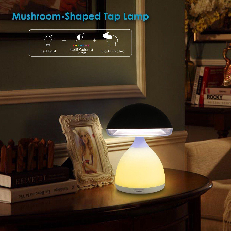 Fungo Lamp, lampada per cromoterapia bambini. Lampada da notte e design